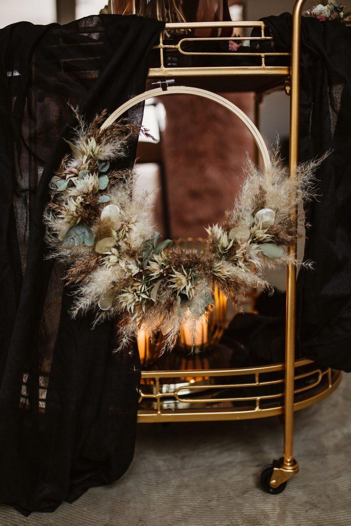 Trockenblumen Alternative zu Brautstrauß Blumenring