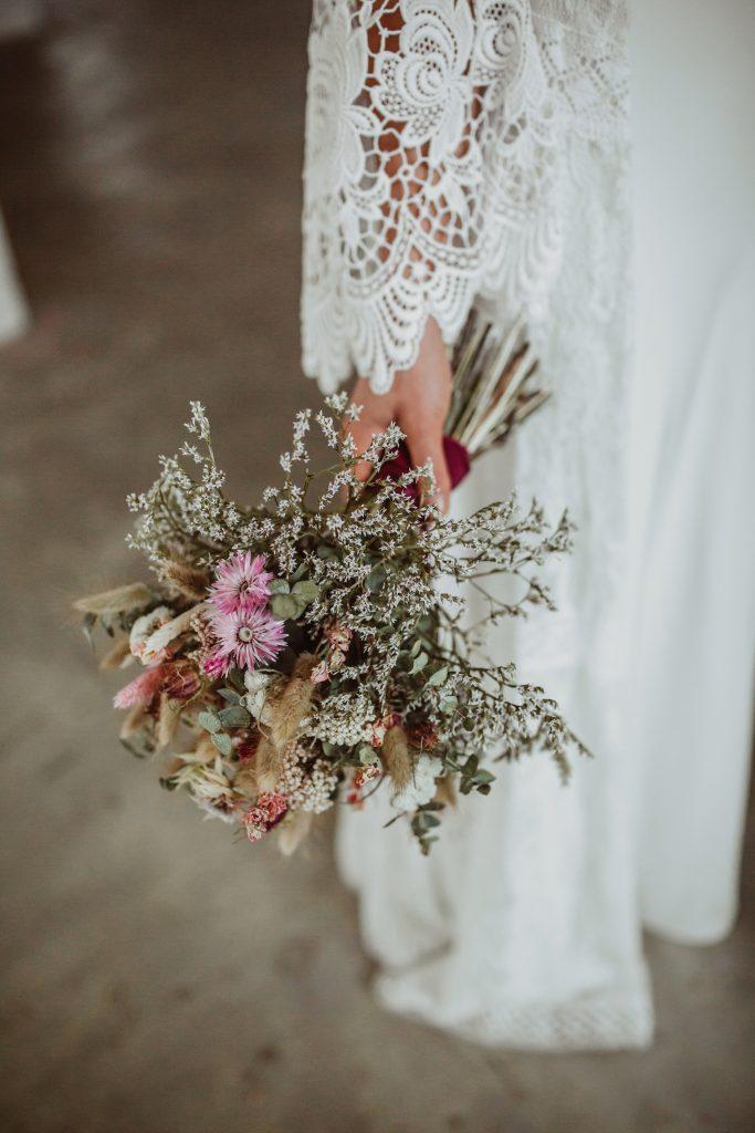 Brautstrauß Trockenblumen Boho