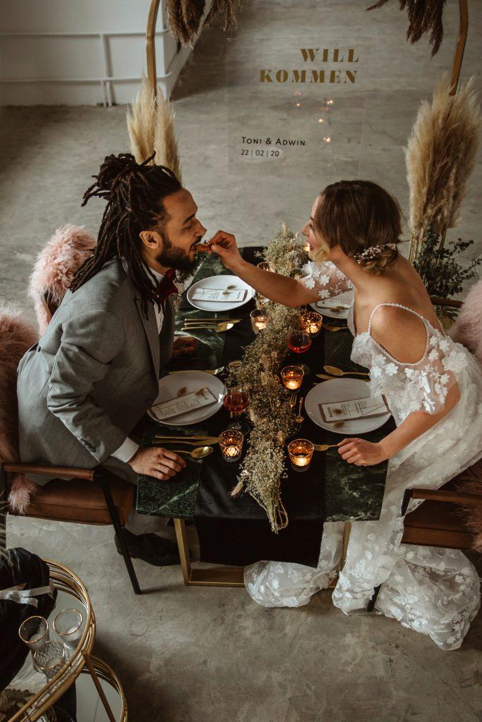 Essen Brautpaar